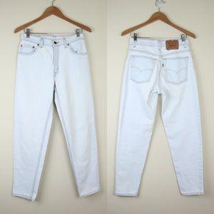 VTG LEVIS 550 29 x 29 Light Wash Denim Jeans White